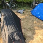 Coffin sized tents bike packing